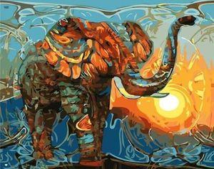 Красочный Слон-Paint By Numbers Наборы Для Взрослых Diy Животных Art Picture Красивая Живопись По Номерам Холст Живопись Искусство