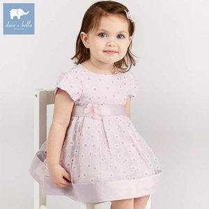 Dave bella baby floral baby girl summer clothing children birthday party wedding clothes girls Princess dress DB7458