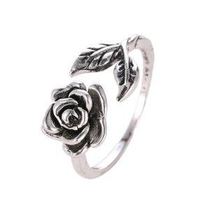 Кольцо Розы для Женщин Листьев Цветка Кольцо Регулируемый Манжеты Кольцо Большой Подарок Ювелирные Изделия Для Девочек / Дам