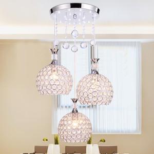 Yeni modern LED restoran kristal avize yaratıcı yemek oturma odası dekorasyon aydınlatma led kolye yemek çubuğu kulübü lambaları