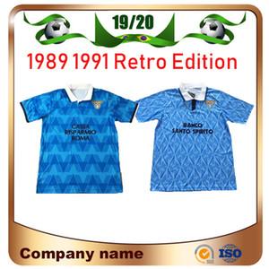 1991 لاتسيو ريترو إصدار Soccer Jersey 1989 1991 لاتسيو IMMOBILE SERGEJ LULIC LUIS ALBERTO كرة القدم قميص مخصص لكرة القدم الموحدة