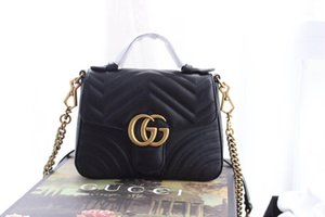 Classic Leather black gold silver chain venta caliente 2019 nuevas mujeres bolsos bolsos bandoleras bolsas messenger tamaño: 21cm * 15.5cm * 6cm 547261