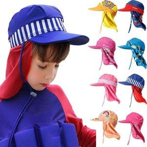 2-8 лет ребенок мальчик девочка шеи крышка защита от Солнца лагерь плавание плавать шапка шляпа ведро УФ-защита UPF 50 + многоцветный вариант