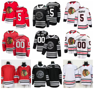 2019 Winter Classic Chicago Blackhawks Connor Murphy Hockey Jerseys Barato Nuevo Negro # 5 Connor Murphy Stitched Jerseys Nombre personalizado