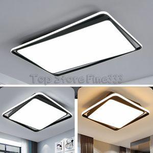 LED Plafoniera Moderna Lampada Soggiorno Apparecchio di illuminazione Camera da letto Cucina Surface Mount Flush Panel Remote Control
