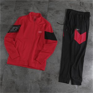 Hotsale Red Fashion Brand Mens Tracksuit Designer Jacket + Pants Sets Zipper Women Hoodie Sportswear Running Tracksuit Jogger Pants 2050503V
