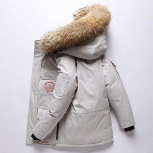 Herren Designer-Jacken-Winter-Ente Daunenjacke mit Kapuze unten Jacke Tooling Eindickung Außen Herren Designer Wintermäntel Plus Size M-3XL