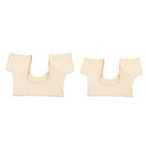 2 Jeu de respirante Underarm Aisselle Sweat Pads Bouclier Cami Sous-vêtements, Shields Guard Sweat - Sweat Absorbant Undershirt, ML