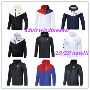 Neue 19 20 PSG Jordam Hooded Jacke Windjacke vollen Reißverschlusses survêtement 2018 2019 2020Paris Mbappe PSG Football Sportjacke coat