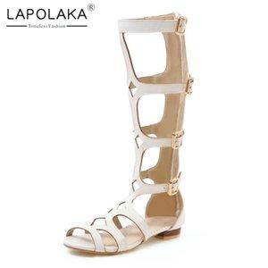 Lapolaka Hot Sale 2019 New Arrivals Chunky Low Heels Sommerschuhe Frauenschuhe Zipper Kurze Stiefel Damen Schuhe Frau