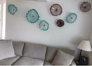 Hotel pared iluminación 100% hecho a mano Murano vidrio lámparas de pared diseño italiano flor Chihuly estilo placas de vidrio