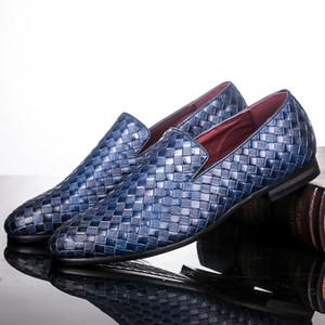 Merkmak 2019 uomini scarpe di marca treccia Oxfords casuale di cuoio di guida Scarpe da uomo Fannulloni mocassini italiano per Flats