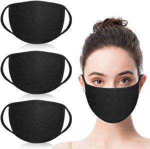 Unisex Fashion Mundmaske waschbar wiederverwendbares Tuch Masken Anti-Staub Warm Ski Radfahren Black Cotton Face Mask für Radfahren Camping-Reisen