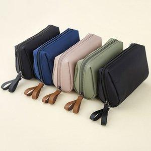 Finishing Portable Cosmetic Bag Ladies Nylon Makeup Wash Waterproof Bag Double Zipper Travel Fashion Storage Mini Cosmetics Oqssq
