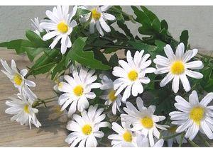 Искусственная маргаритка 14 дюймов высотой в бумажной белой милой 24 цветах * 1.5 '' диаметр цветка из искусственного шелка цветок для дома садовые букеты украшения события