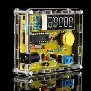 Freeshipping DIY Kits 1Hz-50MHz Cristal Oscilador Testador de Contador de Frequência Tester Meter Shell Peças LED Tester Medidor