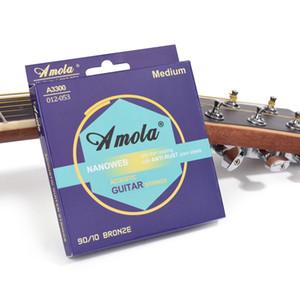 Strings de guitarra acústica de bronze de fósforo Fósforo Bronze GUITANTÃO Cordas W Nanoweb Revestimento, Luz