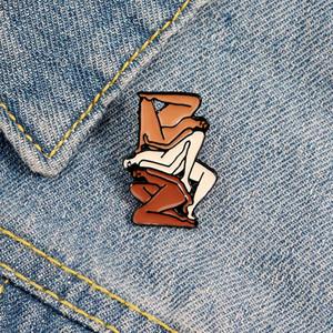배지 알몸 추상 미술 핀 일러스트 레이터 선물 zdl0512 그림 로라 버거 스택 브로치 미니멀리즘 여성 이미지.