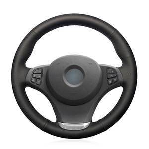Coprivolante per automobile in pelle sintetica nera per BMW E83 X3 2003-2010 E53