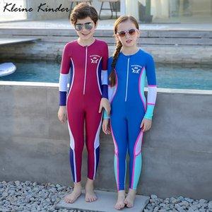 Çocuk UPF50 UV Koruma Uzun Kollu Çocuk Dalgıç Giysisi Gençler Kız Erkek Surf Suits Çocuk mayo için Suit Yıkanma