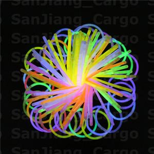 Lumineux multicolore bâton Bracelet Colliers Party Neon LED clignotant Light Stick Baguette Nouveauté Jouet Concert Vocal flash LED Sticks vente E31008
