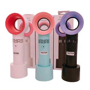 Mini USB fan açık el Bladeless Fan Ventilatör Hava Soğutucu Şarj Edilebilir LED Ligth Ekran Ile Taşınabilir Soğutucu küçük Fan