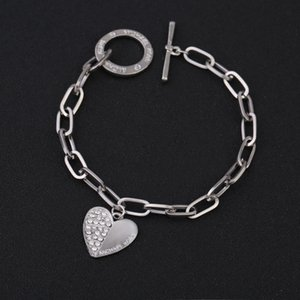 Wholesale-Adjustable Bracelet Party Jewelry for Women Heart Charm Gold Plated Blacelets & Bangles Friend Gift