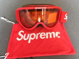 SUP Windproof Kayak Gözlükler Smith Cariboo OTG Gözlük Kışın kar kayağı göz maskesi Snowboard Gözlük çift karşıtı sis lens Soğuk