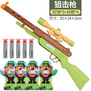 infantis Bullets Toys pode lançar bala suave Gun Telescópio Polícia Modelo Algemas Set Toy Gun INTERbatter