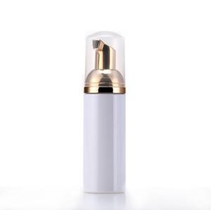 50ml de viagem Foamer garrafas garrafas de espuma de plástico vazio com ouro bomba de lavagem de mão Mousse de creme dispensador garrafa de borbulhamento BPA livre