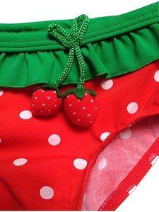 3pcs Set Cute Girls bébé Enfants fraise Bikini Costume Maillots de bain Costume Chapeau Vêtements Filles Natation
