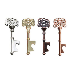 Flaschenöffner Schlüsselform-Flaschen-Stahl Bronze Schlüsselanhänger Antike Retro Opener Silber / Kupfer-Farben 4 Arten Nützliche Küchenhelfer