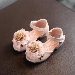 Малыш новорожденных малышей Девочки Кружева цветочные партия принцессы кожаные ботинки сандалии для детей Аксессуары для младенцев плоские каблуках 25 апреля