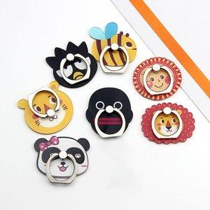 Universal 360 Graus Bonito Dos Desenhos Animados Panda macaco Anel de Dedo Titular Suporte de Telefone Monte Para X 9 8 Samsung Celulares