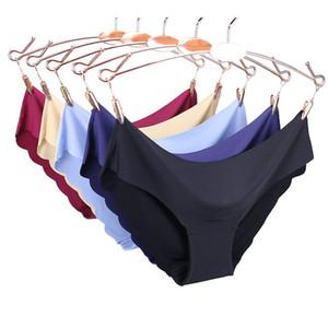 Sin fisuras de las bragas de las mujeres Sólido ultrafinos de las bragas de la ropa interior atractiva de baja altura de las mujeres riza Citas para la ropa interior de alta calidad