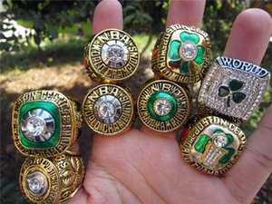 8PCS 1968 69 74 76 81 84 86  2008 Boston Celtic Basketball Team Champions Championship Ring Set Souvenir Fan Men Gift Wholesale 2020