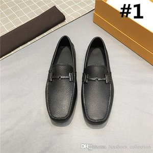 Classic fashion driving Doug shoes,Cowhide pressed grain and lightsome and wear-resistant mens trend casual shoes