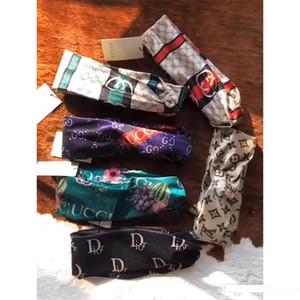 Конструкторы оголовья платков для женщин цветов и колибри печать Luxury Silk Cross Band волоса с Elastic Тюрбан