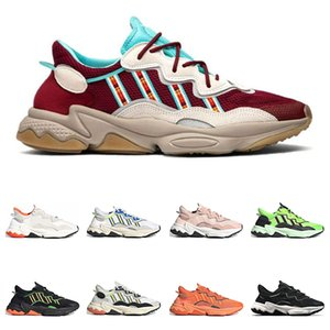 2020 New ozweego men women casual shoes 3M reflective triple black Cloud white Solar Red Bold orange PRID outdoor sports sneakers size 36-45