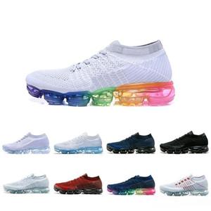 nike vapormax vapor 2018 Vente en gros de chaussures de sport pas cher baskets Plyknit Chaussures de course Hommes Vert Formateurs Tennis Maxes Chaussure Hommes Sport Taille 5.5-11