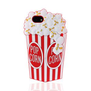 Iphone Xr Xs Max Telefon Kılıfı için Popcorn 3D Lüks Anti-Güz 6 7 8 X Artı Herşey Dahil Silikon Yumuşak Cep Telefonu Kılıfları