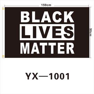 Черный Lives Matter Flags 3 * 5FT Полиэстер Баннер Спорт Флаг Мартин Лютер Кинг Баннер Parade Флаг Черный Я не могу дышать A03