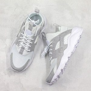 Huarace Run الترا الاحذية الفضة مريحة منخفضة أحذية رياضية أحذية رياضية مصمم أعلى جودة الرجال النساء 36-45