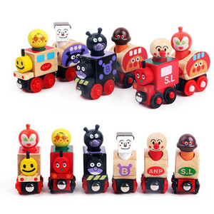 INS Wooden bread Superman Magnetic Locomotive Toy set Thomas Children's hands-on Toys 1-3 years old