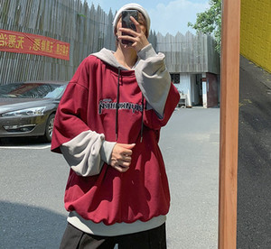 Мужские толстовки для толстовки Осень Мужчины Мода Письмо Печать Повседневная Подделка Толстовка Человек Человек Улавная Одежда Хип-Хоп Свободный Пуловер