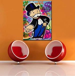 Alec Monopoly Peinture à l'huile sur toile Graffiti Wall Art Décor riche homme Money Home Décor peint à la main HD Imprimer Wall Art Photos 191030