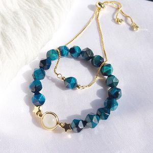 """Pedra natural 2 em 1 gemstones de olho de tigre """"amor / riqueza sorte / saúde / proteção contra pulseira de proteção"""