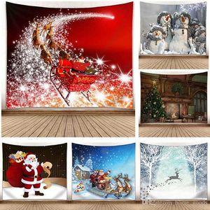 3D-Druck Christmas Tapestry Weihnachtsschneemann Elch Wandbehang Mats Dekorationen Tischdecke Badetuch Picknick-Decke Schal Weihnachten Home Decor