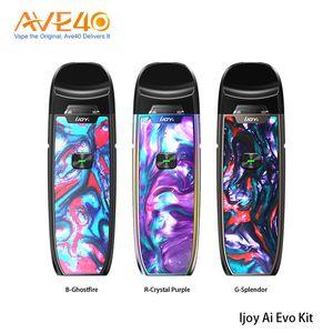 Original IJOY AI EVO Resin Pod Vape Kit con batería de 1100 mAh Cartucho de 2.8 ml v Ijoy shogun