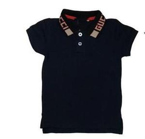 Neues Kleinkind Kinder Polo Sommer Kurzarmshirts Baby-Shirt Mädchen-Kinder-T-Shirt Marken-Umbau Brief Kragen Top